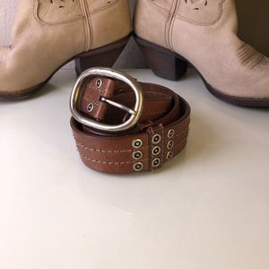 BUCKLE Brown Leather Belt Small